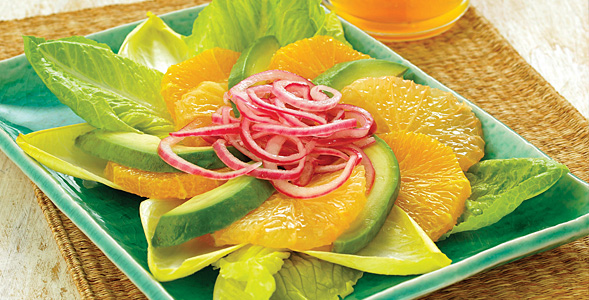 Avocado Citrus Salad with Marinated Onion