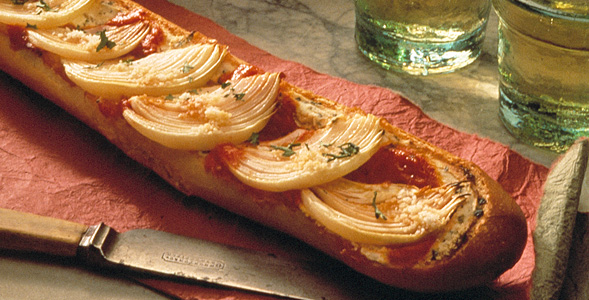 Crusty Onion Bruschetta