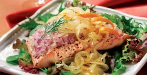 Chilled Salmon Salad with Citrus Onions