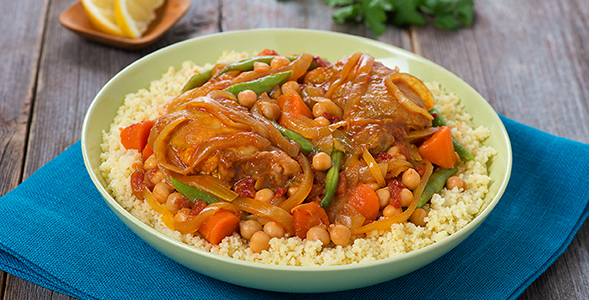 Slow Cooker Chicken and Onion Tagine